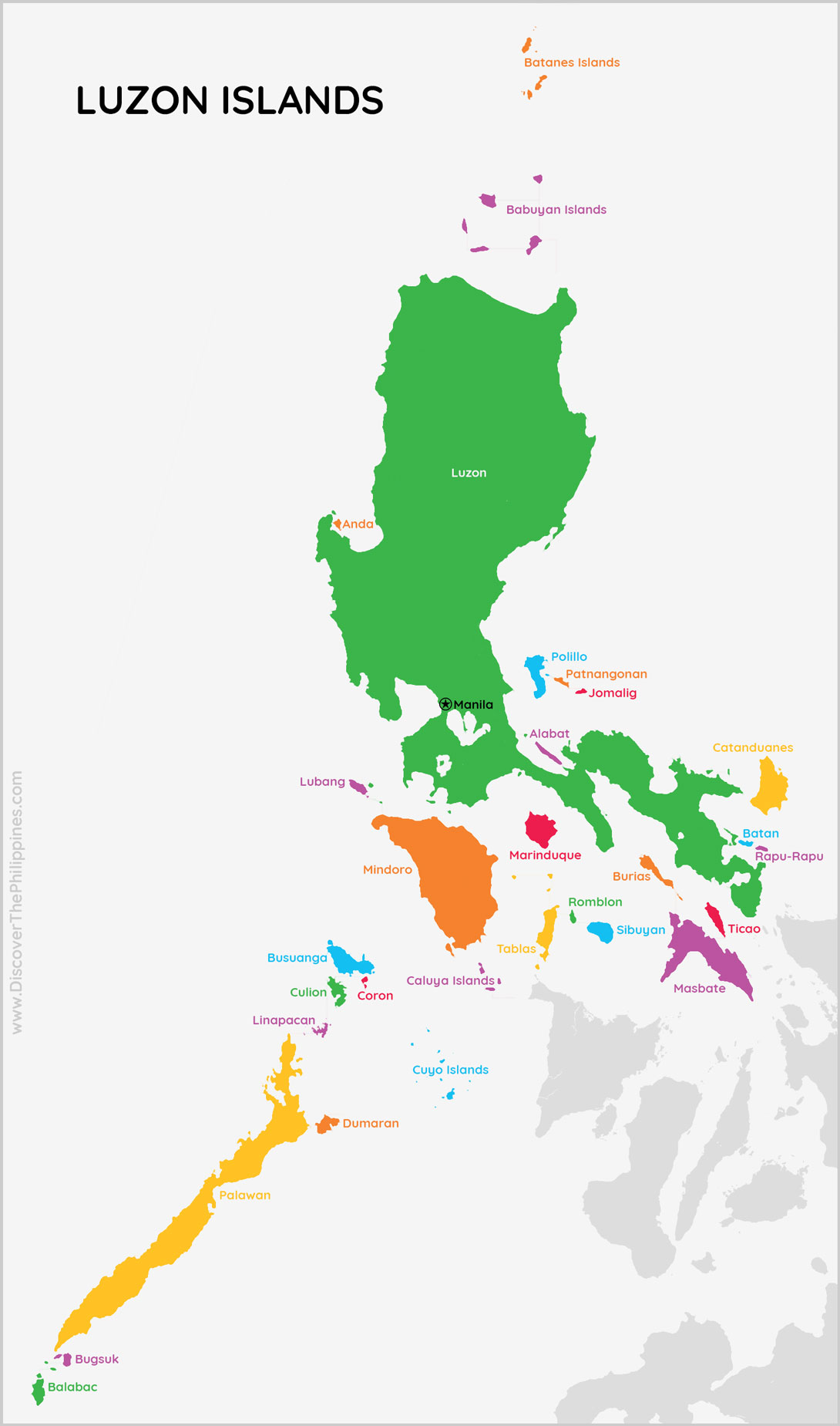 Luzon Island Group Map