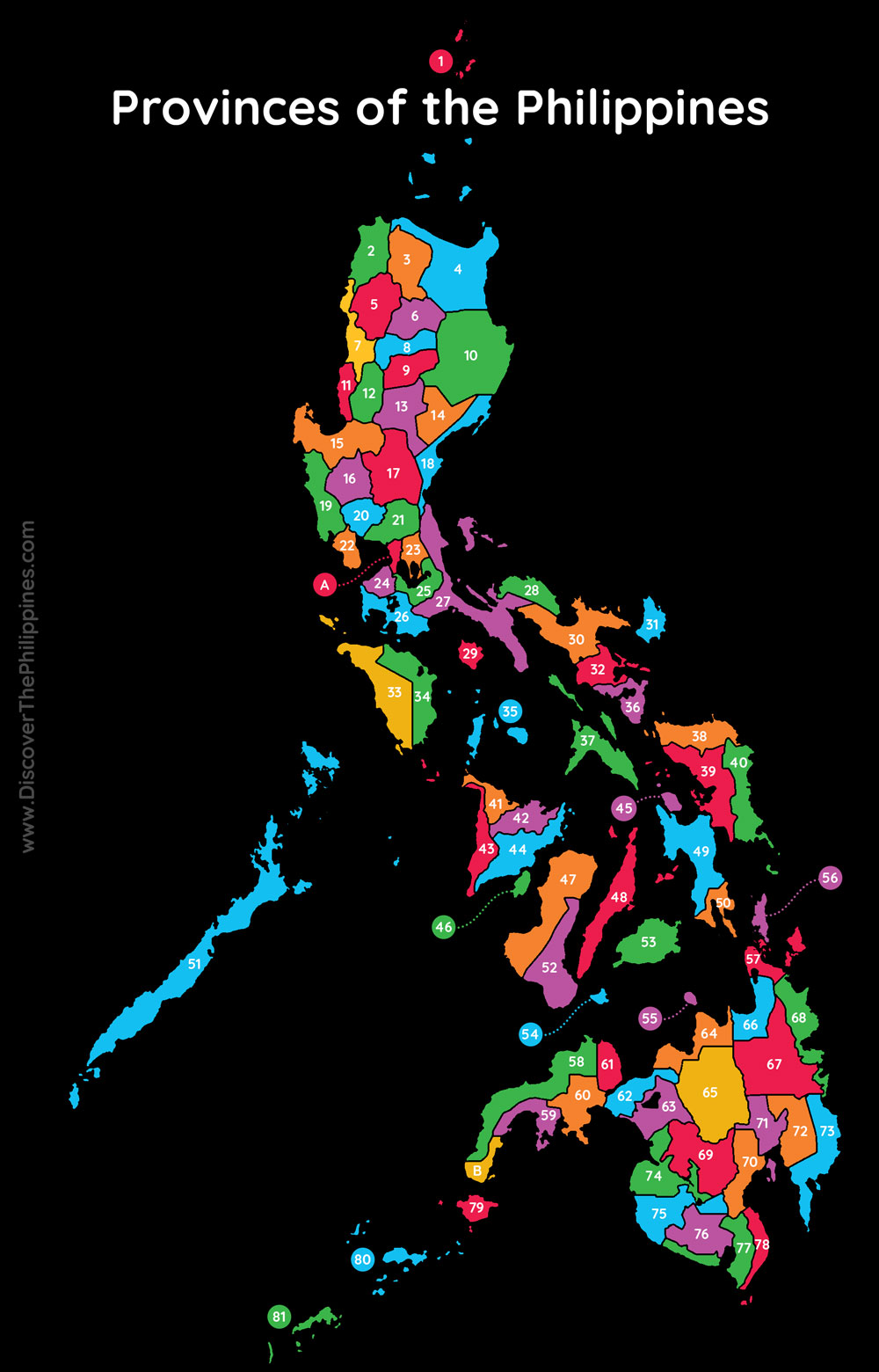 Provinces in the Philippines Map