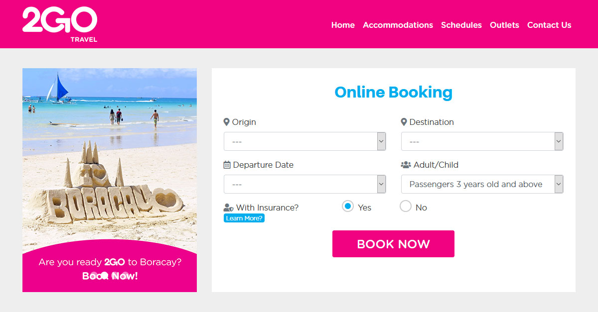 How to book ferry tickets.