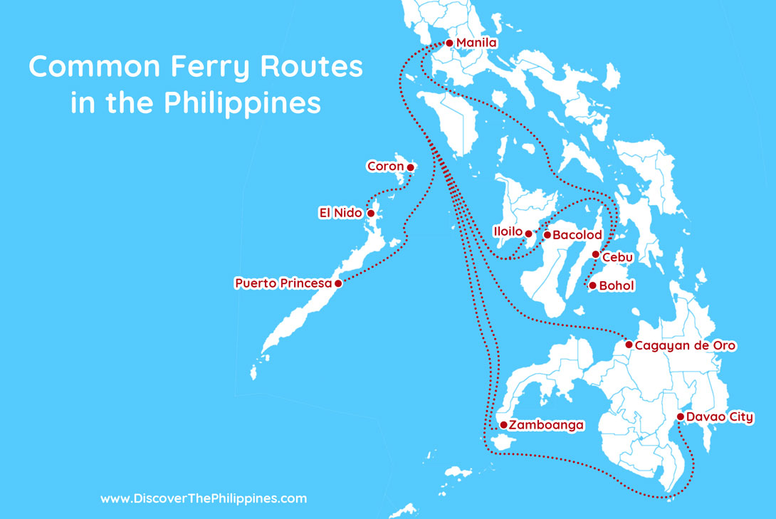 Common Ferry Routes in the Philippines