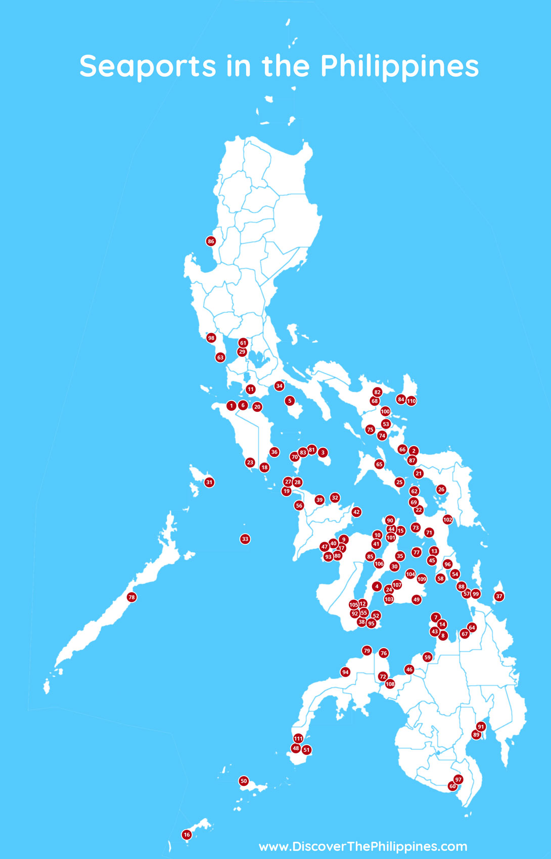 Seaports in the Philippines Map
