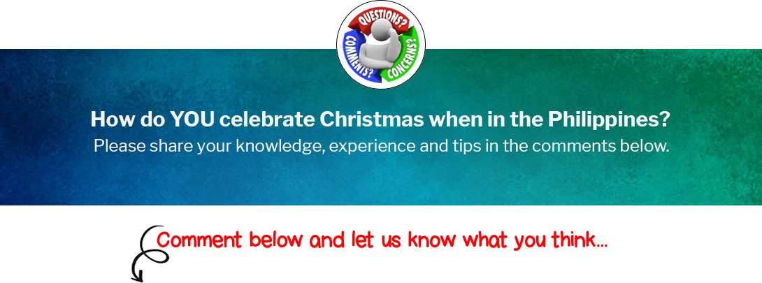 How do YOU celebrate Christmas when in the Philippines?